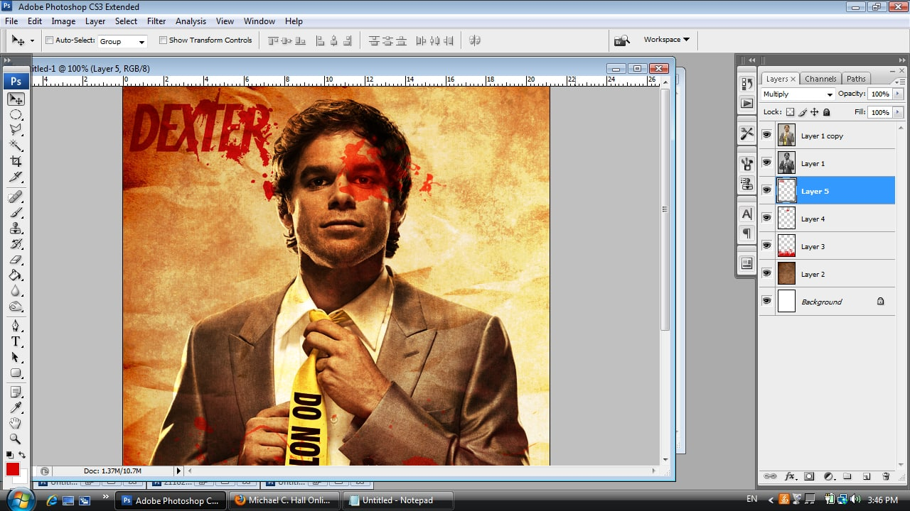 Dexter Photoshop Tutorial Step Nine