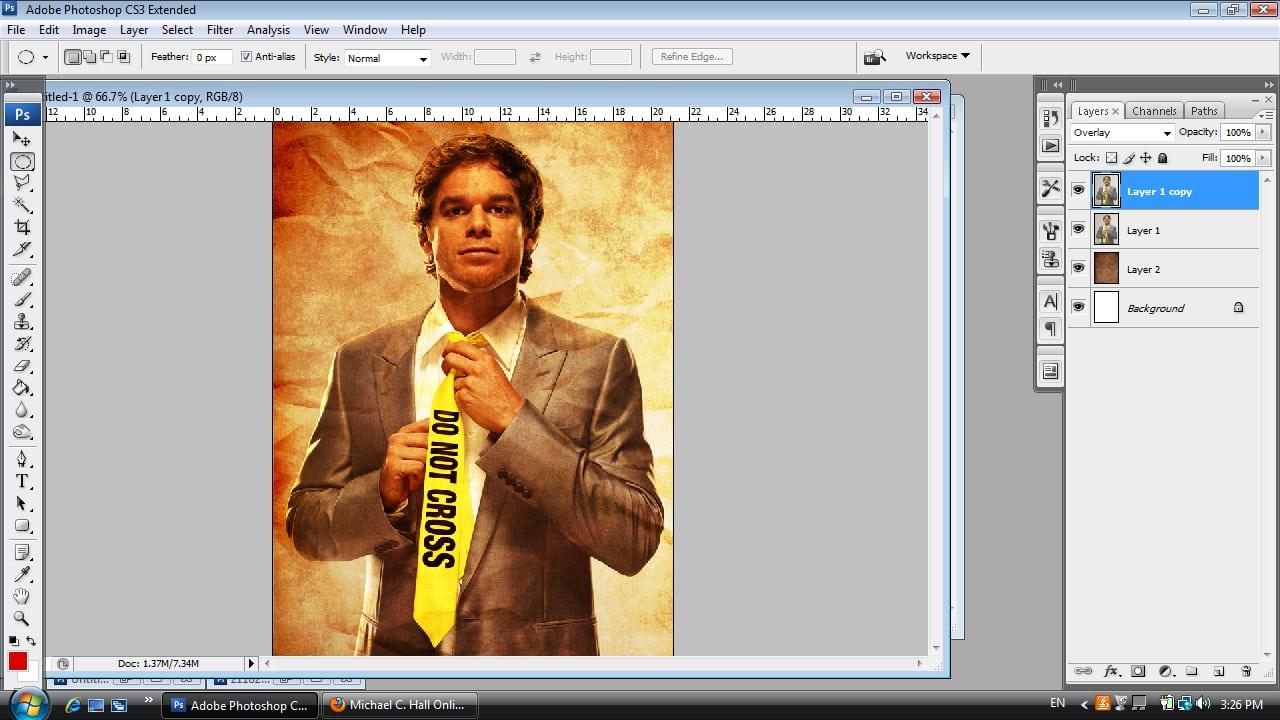 Dexter Photoshop Tutorial Step Four