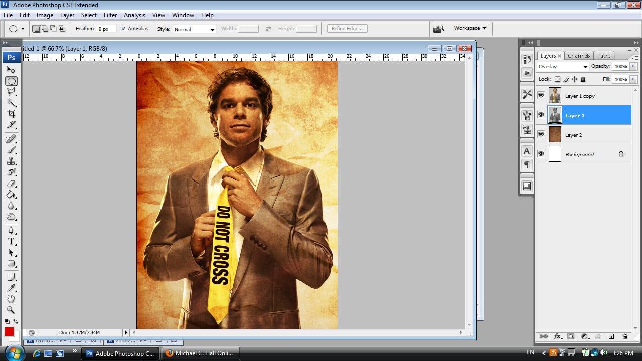 Dexter Photoshop Tutorial Step Five