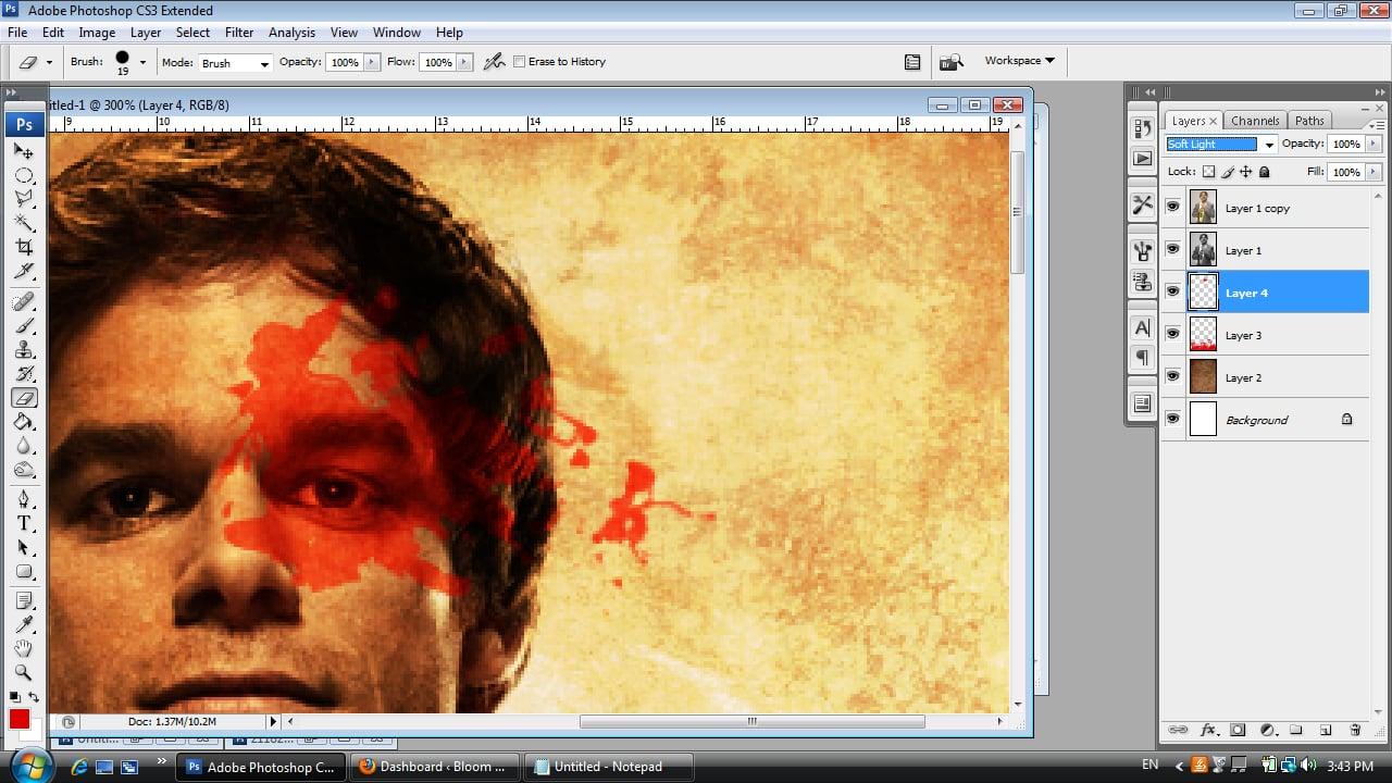 Dexter Photoshop Tutorial Step Seven