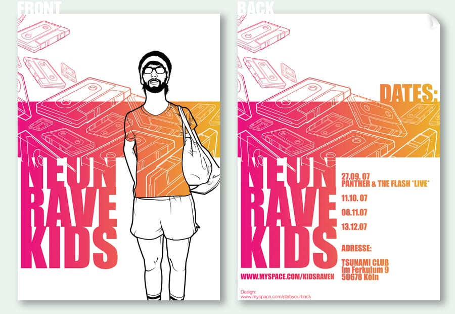 Neon Rave Kids Flyer Design