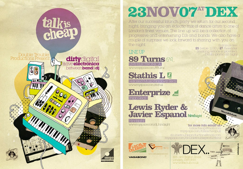Talk Is Cheap Flyer