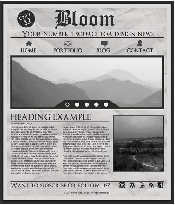 Newspaper Effect Photoshop