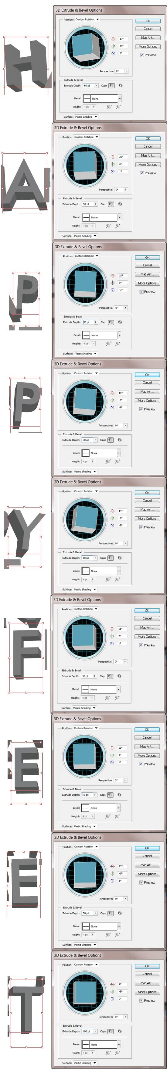 Create Happy Feet Font - Text Effect Illustrator Tutorial -DesignBump