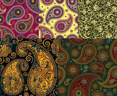 20+ Beautiful Paisley Patterns, Vectors & Brushes for