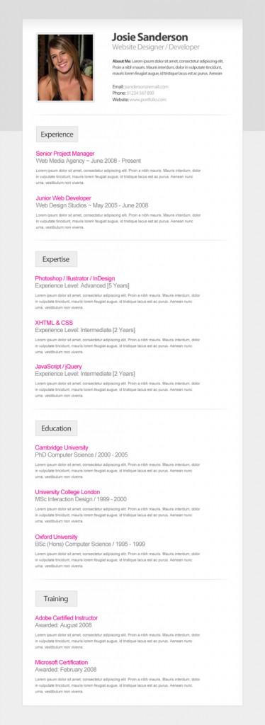 9 helpful resume design tutorials to learn