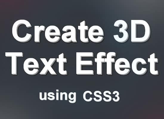 3D-CSS-Text-Effect