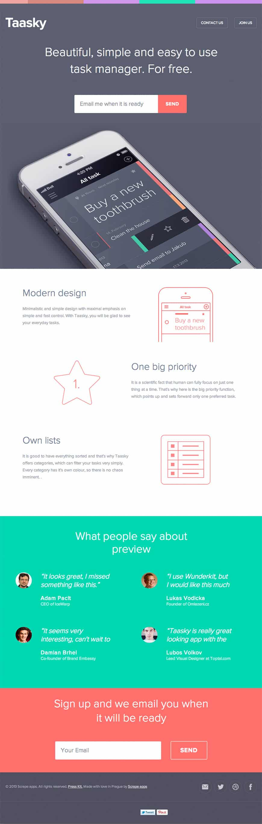 20 Creative Landing Pages for Inspiration -DesignBump