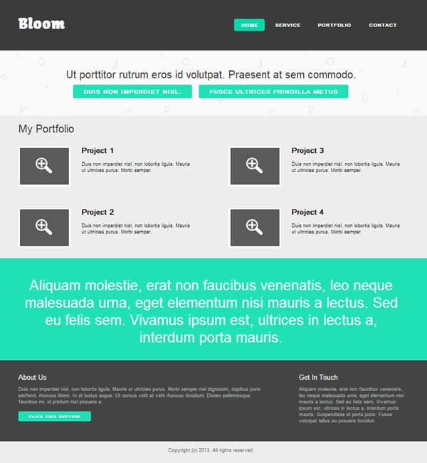 Create A Flat Website Template Html Css Tutorial File Designbump