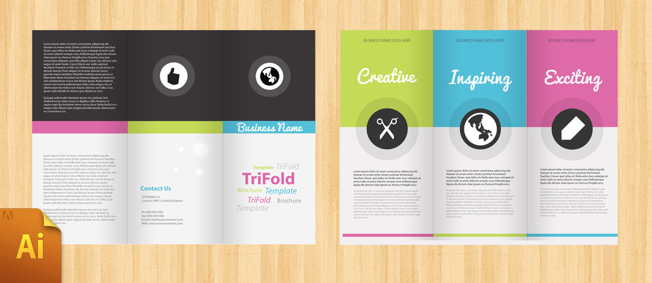 free corporate tri fold brochure template designbump