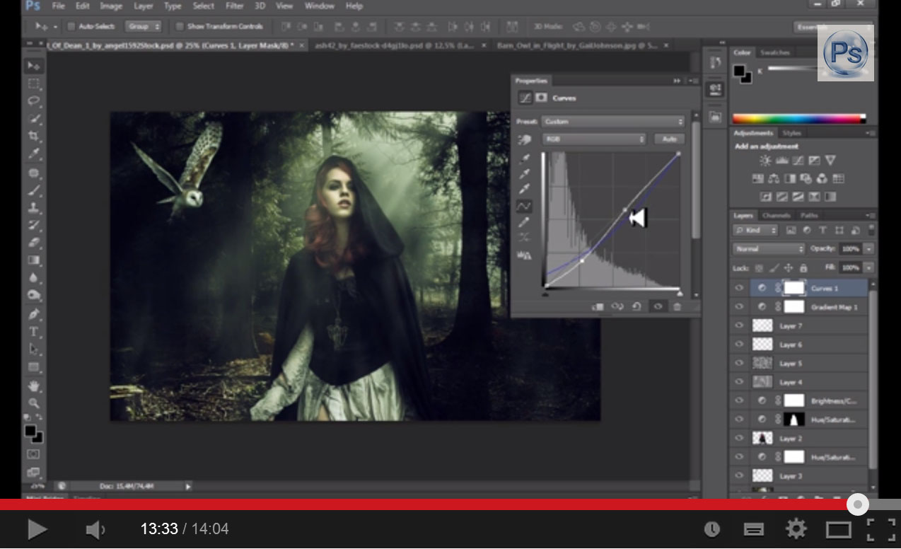 Dark Forest Photo Manipulation in Photoshop