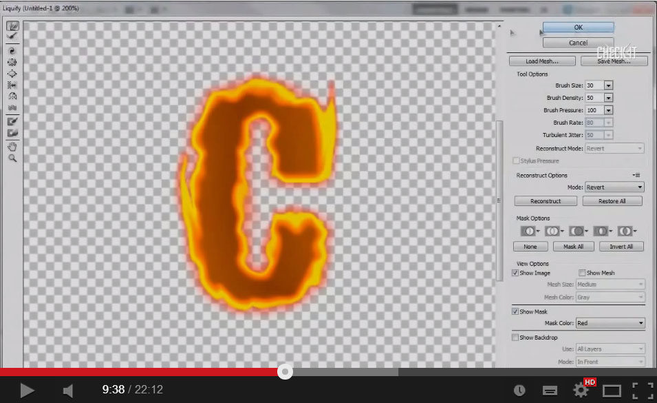 Realistic Fire Text Effect Photoshop Tutorial