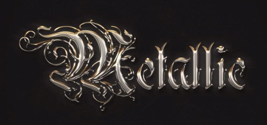 Medieval Metallic Text Effect Photoshop