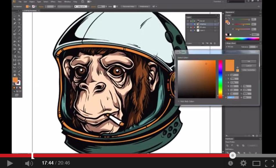 Space-Chimp-Illustration-Tutorial-005