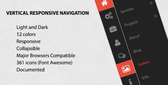 55+ Best CSS3 jQuery Plugin Menus -DesignBump