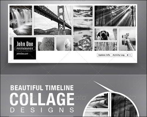 Facebook Timeline Collage Template   facebook timeline cover 040