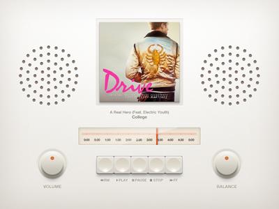 Free Music Player UI PSD Files