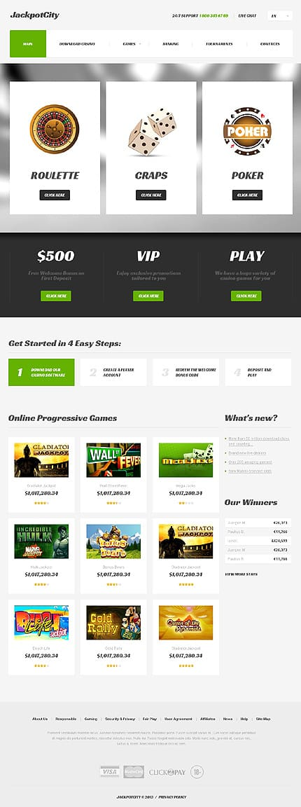 Online Casino Responsive Website Template