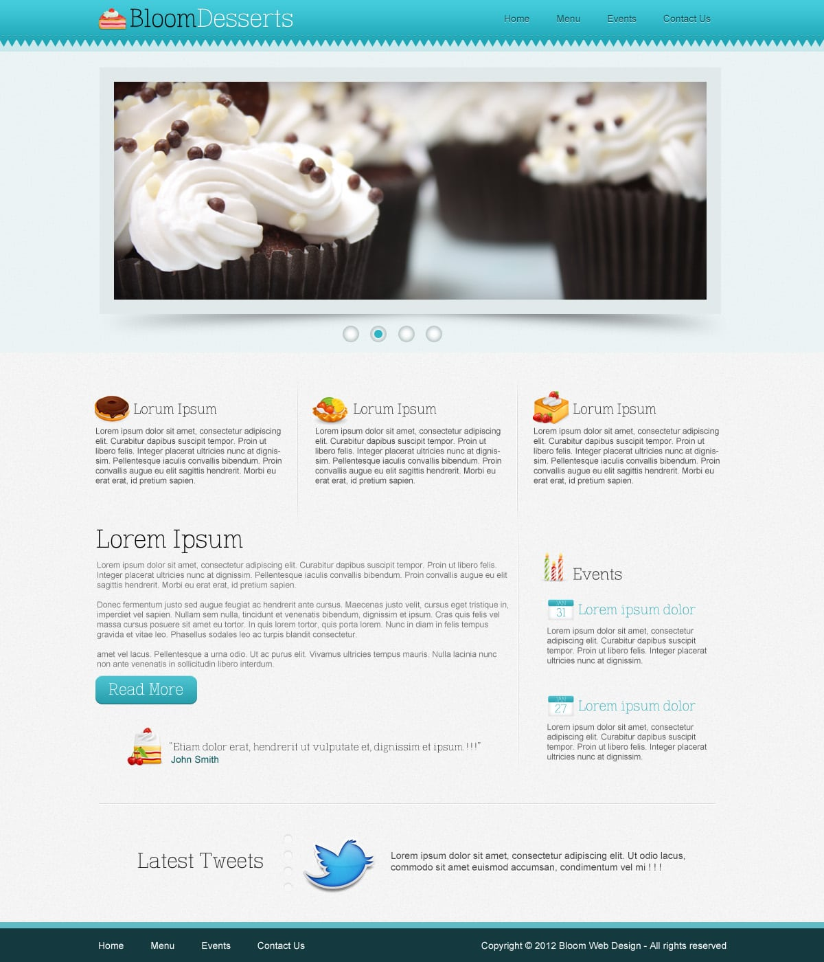Free PSD Template: Food and Restaurant Website