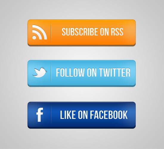 46+ Buttons & Badges PSD Tutorials & Freebies -DesignBump