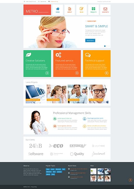 15 Responsive WordPress Business Themes