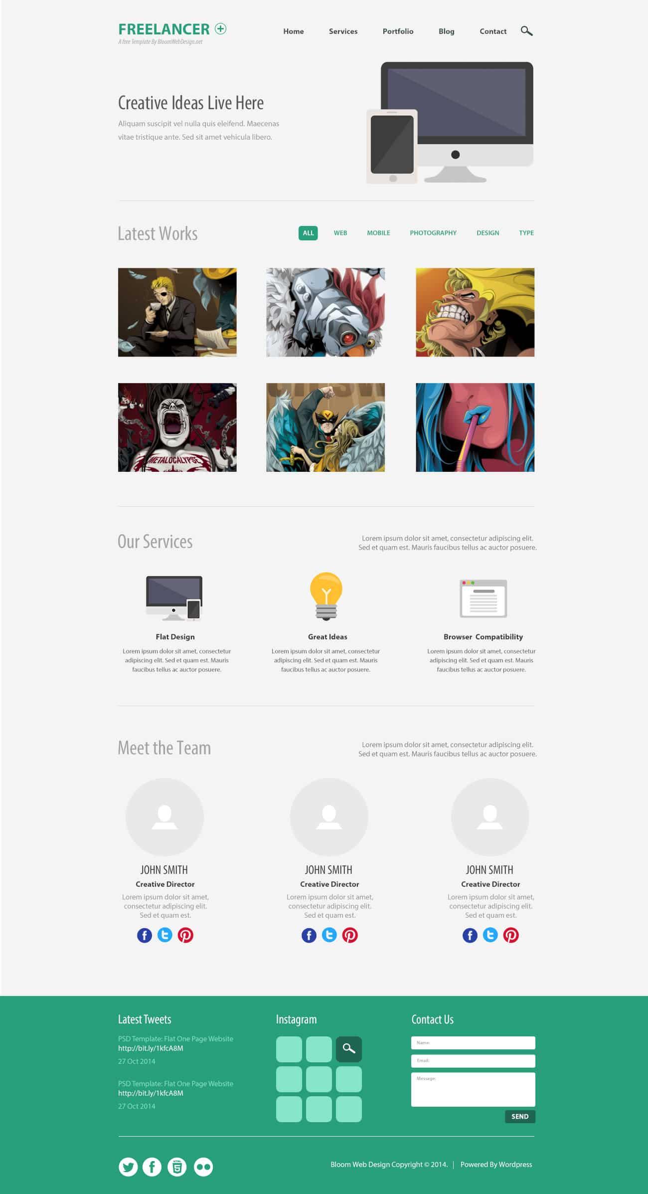 Minimalist-One-Page-PSD-Website
