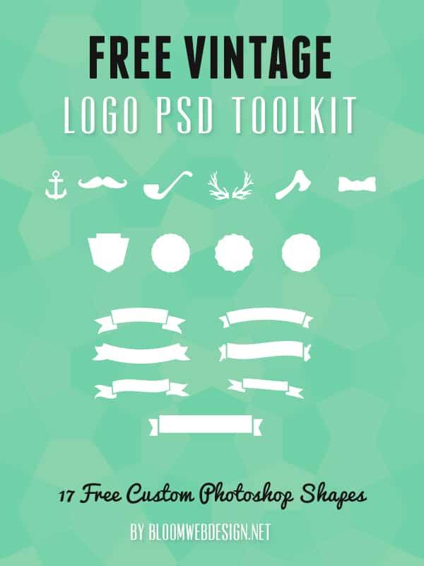 Freebie: Vintage Logo Tool Kit PSD