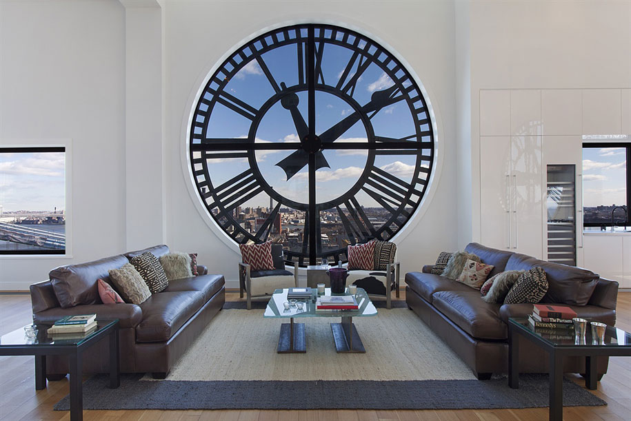 Brooklyn's Old Clock Tower Transformed Into Penthouse