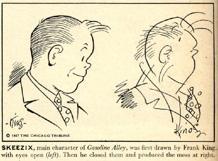 In 1947, 10 Comic Strip Artists Were Asked To Draw Their Characters Blindfolded