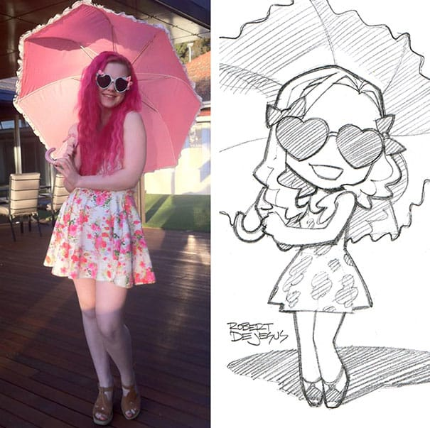 This Artist Turns Strangers Into Anime Characters