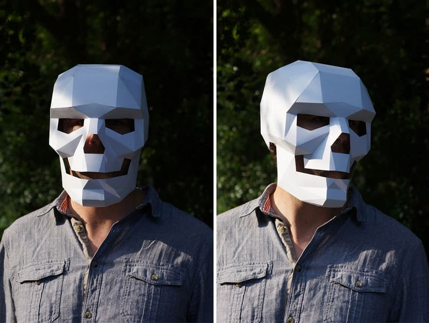 10 DIY Print At Home Geometric Paper Masks