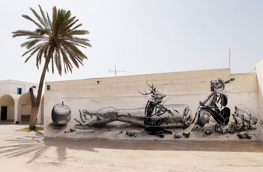 150 Street Artists Covered an Old Tunisian Village in Beautiful Street Art