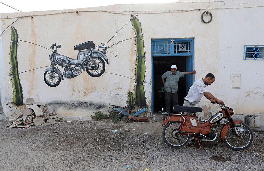 150 Street Artists Cover an Old Tunisian Village in Beautiful Street Art