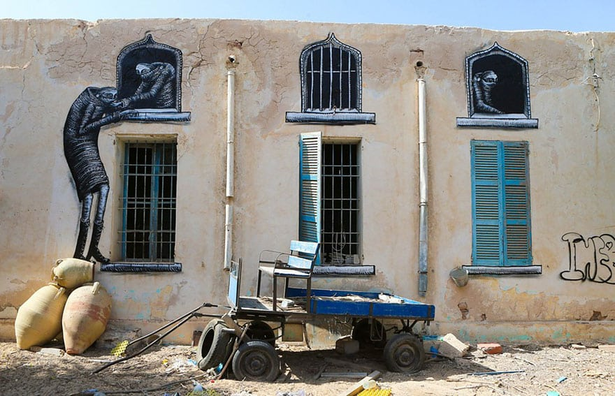 150 Street Artists Cover an Old Tunisian Village in Beautiful Street Art