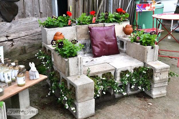 This Concrete Chair Planter