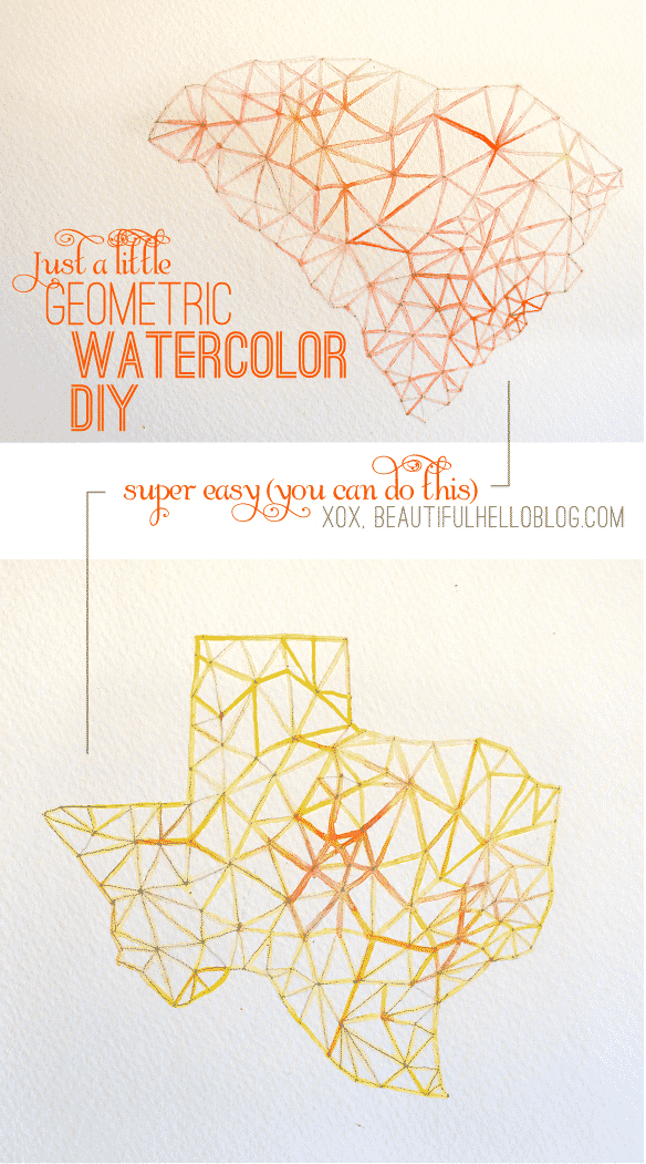 Geometric Watercolor Painting
