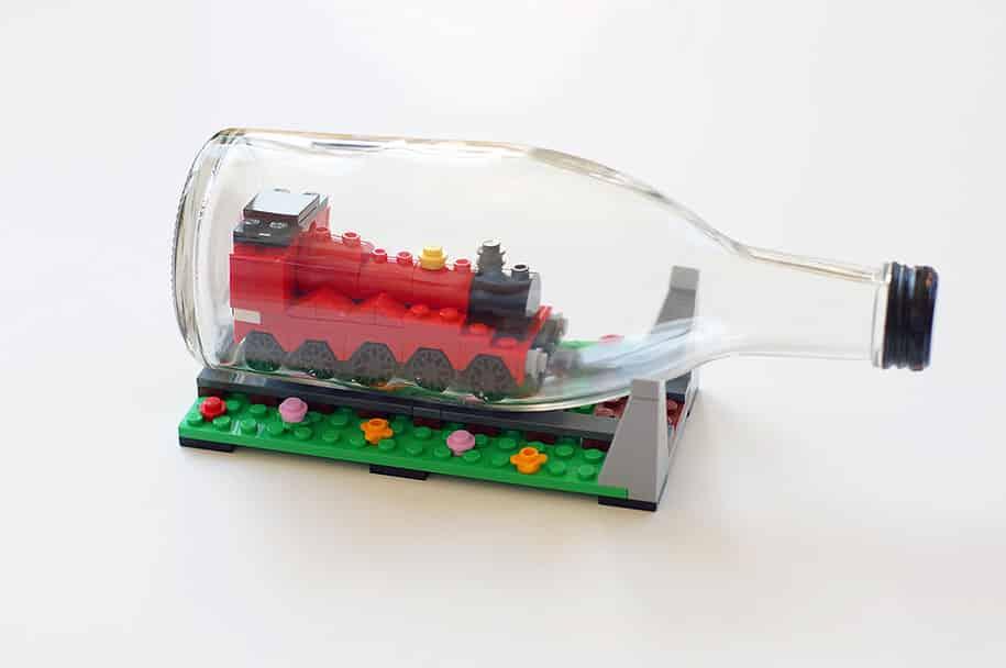 LEGO Ships Built Inside Bottles