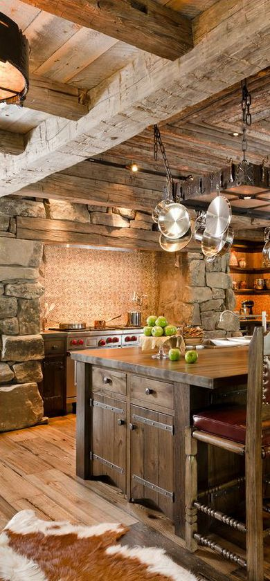40 Rustic Kitchen Designs to Bring Country Life -DesignBump on Rustic:fkvt0Ptafus= Farmhouse Kitchen Ideas  id=90278