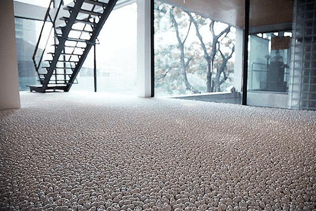 Porcelain Skulls Make Creepy Flooring Designbump