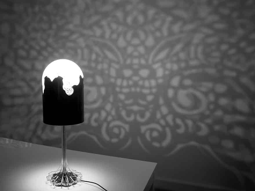 3D Printed Lamp Covers The Room In Fancy Lace Patterns