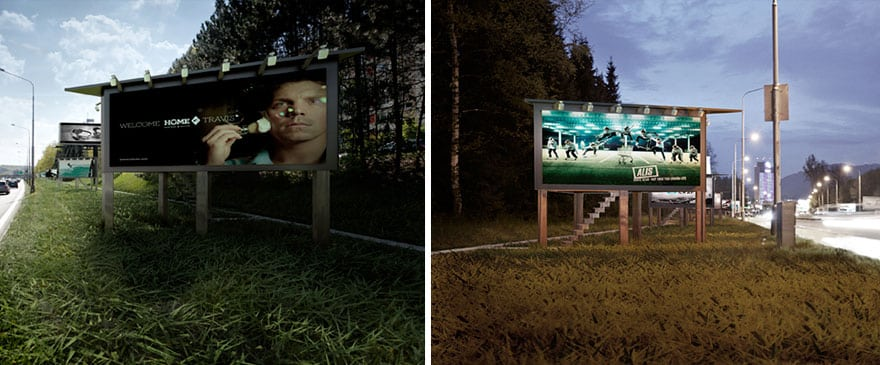 3 Billboards Turned Into Tiny Houses For Homeless