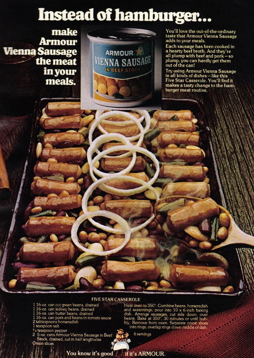 This borderline-NSFW ad for canned Vienna sausage: