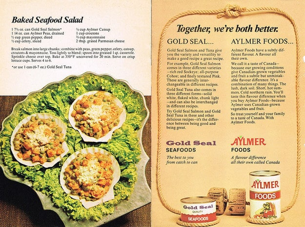 An add for canned seafood that might put you off fish forever.