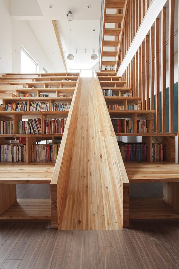 Books and a slide?