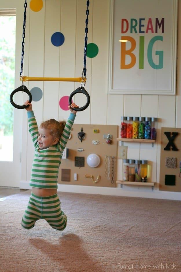 Gymnast in training.
