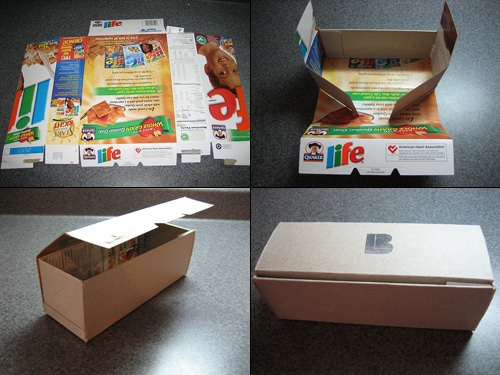 Use cereal boxes to make little gift boxes: