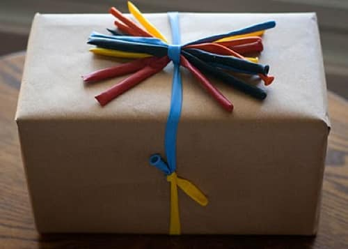 Uninflated balloons also make unique ribbons: