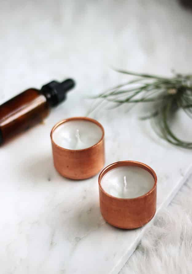 Copper Votive Candles