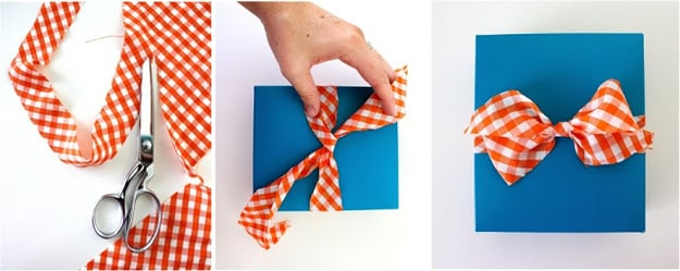 Or use fabric as ribbon: