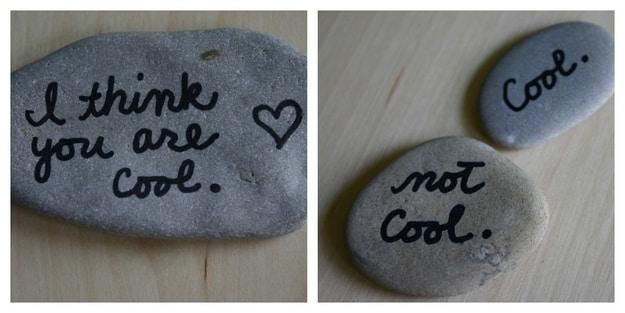 20. Message Stones